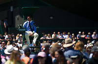 Umpires on the Outside Courts on Day 3<br /> <br /> Photographer Ashley Western/CameraSport<br /> <br /> Wimbledon Lawn Tennis Championships - Day 3 - Wednesday 5th July 2017 -  All England Lawn Tennis and Croquet Club - Wimbledon - London - England<br /> <br /> World Copyright &not;&copy; 2017 CameraSport. All rights reserved. 43 Linden Ave. Countesthorpe. Leicester. England. LE8 5PG - Tel: +44 (0) 116 277 4147 - admin@camerasport.com - www.camerasport.com