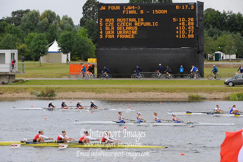 Eton. Great Britain.  JW4-,  B Final, FISA Junior  World Rowing Championships. Dorney Lake, Nr Windsor. Saturday, 06/08/2011 [Mandatory credit: Intersport Images]