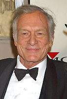 "27 September 2017 - Hugh Marston Hefner aka ""Hef"" was an American magazine publisher, editor, businessman, and international playboy best known as the editor-in-chief and publisher of Playboy magazine, which he founded in 1953. Hefner was the founder and chief creative officer of Playboy Enterprises, the publishing group that operates the magazine. Hefner was also a political activist and philanthropist. File Photo: Feb. 8, 2004; Hollywood, CA, USA; Personality HUGH HEFNER during the BMG 46th Annual Grammy Awards Post-Grammy Gala Celebration held at The Avalon. Photo Credit: Laura Farr/AdMedia"