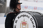 HOLMENKOLLEN, OSLO, NORWAY - March 16: Musicians of the H.M. Kongens Garde (royal garde) before the start of the cross country 15 km (2 x 7.5 km) competition at the FIS Nordic Combined World Cup on March 16, 2013 in Oslo, Norway. (Photo by Dirk Markgraf)