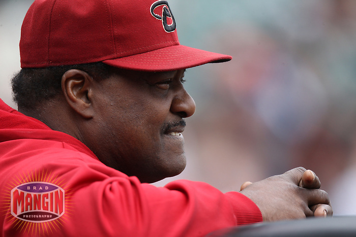 SAN FRANCISCO, CA - SEPTEMBER 4:  Coach Don Baylor of the Arizona Diamondbacks watches batting practice before the game against the San Francisco Giants at AT&T Park on September 4, 2011 in San Francisco, California. Photo by Brad Mangin