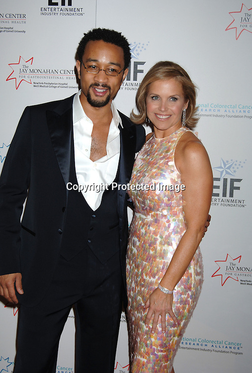 John Legend and Katie Couric ..at The Entertainment Industry Foundation National Colorectal Cancer Research Alliance and The Jay Monahan Center for Gastrointestinal Health Hollywood Meets Motown Benefit on March 15, 2006 at The Waldorf Astoria Hotel. ..Robin Platzer, Twin Images