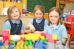 PALS: Settling into their first day in Boheshill National School, Glencar on Monday were l-r: Rhianna Murphy Russell, Clodagh O'Shea and Mary Ellen McDonnell.