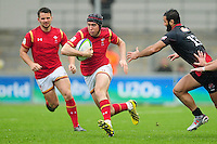 Rhun Williams of Wales U20 goes on the attack. World Rugby U20 Championship match between Wales U20 and Georgia U20 on June 11, 2016 at the Manchester City Academy Stadium in Manchester, England. Photo by: Patrick Khachfe / Onside Images