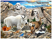 Howard, REALISTIC ANIMALS, REALISTISCHE TIERE, ANIMALES REALISTICOS, paintings+++++Mount Rushmore,GBHRPROV125,#A# ,puzzles