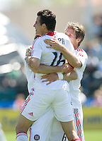 April 11, 2009:  Marco Pappa of Fire celebrates his goal during a game against the Earthquakes at Buck Shaw Stadium in Santa Clara, California. San Jose Earthquakes and Chicago Fire tied, 3-3