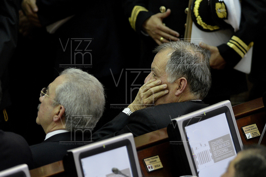 BOGOTA -COLOMBIA. 20-07-2014. Alejandro Ordoñez, procurador general de la Nación, durante la Instalación del Congreso de la República de Colombia período 2014-18 por parte del presidente, Juan Manuel Santos en el Salón Elítico del Capitolio Nacional./ Alejandro Ordoñez, General Attorney of the Nation, during the installation of the Congress of the Republic of Colombia period 2014-18 by the president, Juan Manuel Santos at the Salon Eliptico of the National Capitol. Photo: VizzorImage/ Gabriel Aponte / Staff