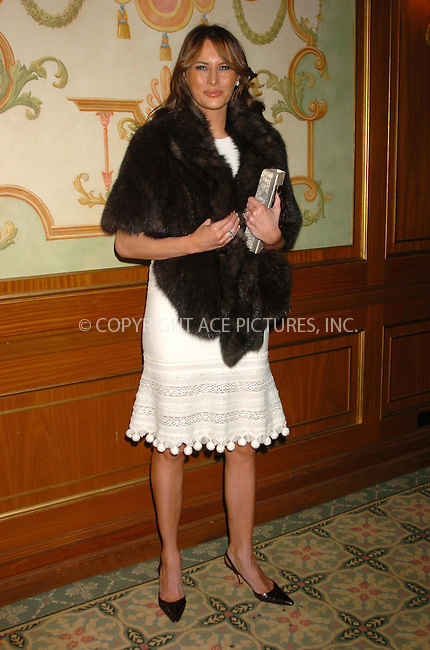 WWW.ACEPIXS.COM . . . . .  ....NEW YORK, OCTOBER 26, 2005....Melania Trump attends the 17th Annual Women of the Year Luncheon at The Pierre.....Please byline: AJ Sokalner - ACE PICTURES..... *** ***..Ace Pictures, Inc:  ..Craig Ashby (212) 243-8787..e-mail: picturedesk@acepixs.com..web: http://www.acepixs.com