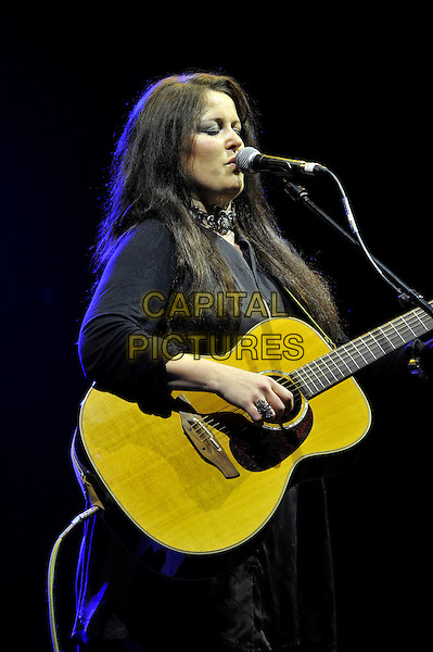 Anne Marie Helder.performing live in concert, Hammersmith Apollo, London, England, UK, 10th May 2013..music on stage gig half length guitar singer microphone singing playing .CAP/MAR.© Martin Harris/Capital Pictures.