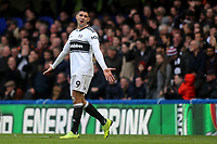 Aleksandar Mitrovic of Fulham shows his frustration during Chelsea vs Fulham, Premier League Football at Stamford Bridge on 2nd December 2018