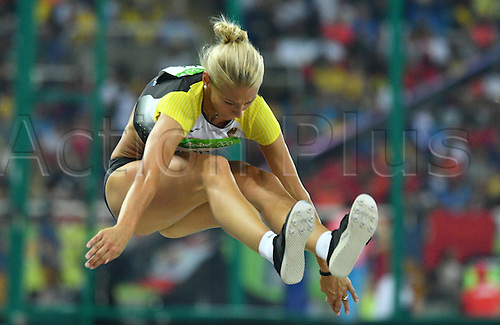 14.08.2016. Rio de Janeiro, Brazil. Kristin Gierisch of Germany competes in Women's Triple Jump Final of the Athletic, Track and Field events during the Rio 2016 Olympic Games at Olympic Stadium in Rio de Janeiro, Brazil, 14 August 2016.