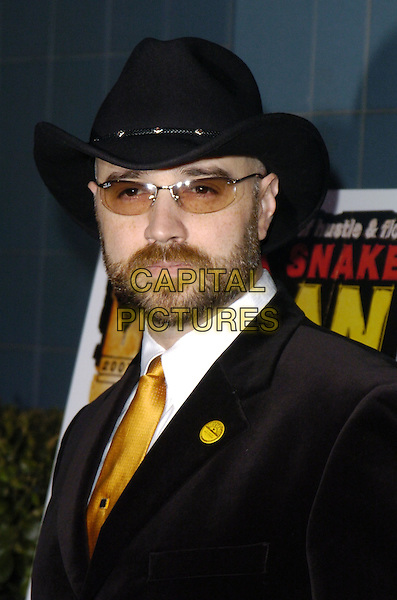 "GRAIG BREWER.Premiere of ""Black Snake Moan"" at the Chelsea West Cinemas, New York, New York, USA..February 19th, 2007.headshot portrait black hat stetson sunglasses shades beard facial hair  .CAP/ADM/BL.©Bill Lyons/AdMedia/Capital Pictures *** Local Caption ***"