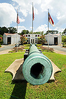 Photography of Charlotte Museum of History.<br /> This 1769 cannon, cast by the Spanish, captured by the U.S. in 1898, and presented to Charlotte by the President in 1890, guards the Charlotte Museum of History. <br /> <br /> Charlotte Photographer -PatrickSchneiderPhoto.com