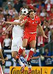 Mariusz Lewandowski and Rene Aufhauser at Euro 2008. Austria-Poland 06122008, Wien, Austria