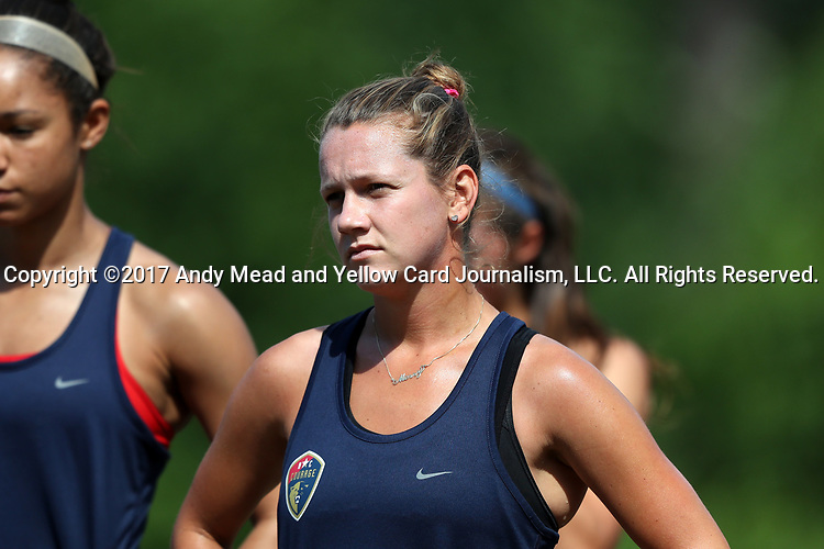 CARY, NC - MAY 04: Meredith Speck. The North Carolina Courage held a training session on May 4, 2017, at WakeMed Soccer Park Field 6 in Cary, NC.