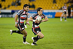 Chad Tuoro heads for the tryline as Fritz Lee provides support. Air New Zealand Cup rugby game between Counties Manukau Steelers & Hawkes Bay, played at Mt Smart Stadium on the 23rd of August 2007. Hawkes Bay won 38 - 14.