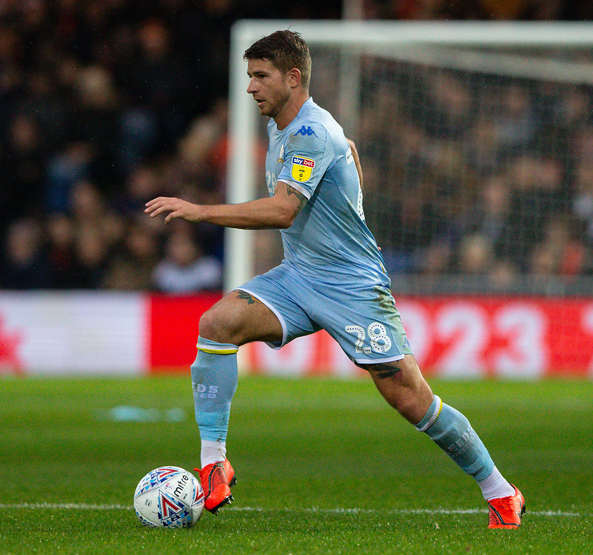 Leeds United's Gaetano Berardi in action<br /> <br /> Photographer Alex Dodd/CameraSport<br /> <br /> The EFL Sky Bet Championship - 191123 Luton Town v Leeds United - Saturday 23rd November 2019 - Kenilworth Road - Luton<br /> <br /> World Copyright © 2019 CameraSport. All rights reserved. 43 Linden Ave. Countesthorpe. Leicester. England. LE8 5PG - Tel: +44 (0) 116 277 4147 - admin@camerasport.com - www.camerasport.com