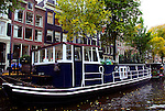 One of the thousands of house boats on an Amsterdam canal.