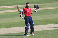 Ravi Bopara of Essex acknowledges the crowd after reaching his century during Essex Eagles vs Kent Spitfires, Royal London One-Day Cup Cricket at The Cloudfm County Ground on 6th June 2018