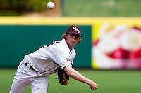Pierce Johnson (34) of the Missouri State Bears during a game vs. the Western Illinois Leathernecks at Hammons Field in Springfield, Missouri;  March 20, 2011.  Photo By David Welker/Four Seam Images