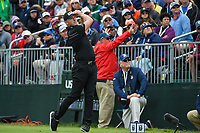 Matthew Wallace (ENG) watches his tee shot on 4 during round 4 of the 2019 US Open, Pebble Beach Golf Links, Monterrey, California, USA. 6/16/2019.<br /> Picture: Golffile | Ken Murray<br /> <br /> All photo usage must carry mandatory copyright credit (© Golffile | Ken Murray)
