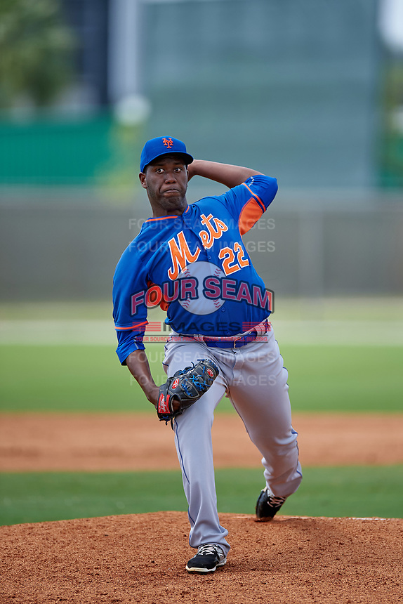 New York Mets Alberto Baldonado (22) during a minor league Spring Training game against the St. Louis Cardinals on March 31, 2016 at Roger Dean Sports Complex in Jupiter, Florida.  (Mike Janes/Four Seam Images)