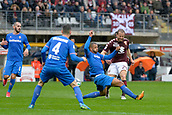 18th March 2018, Stadio Olimpico di Torino, Turin, Italy; Serie A football, Torino versus Fiorentina; Lorenzo De Silvestri has a shot at goal