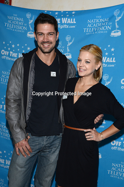 Ryan Peavey and Kristen Storms attends the 2015 Daytime Emmy Gifting Suite on April 25, 2015 at Warner Brothers Stuido Lot  in Burbank, California, USA. The gift lounge was presented by OffTheWallIdeas.com.
