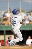 August 12, 2009: Franklin (Chris) Jacobs of the Ogden Raptors. The Ogden Raptors are the Pioneer League affiliate of the Los Angeles Dodgers. Photo by: Chris Proctor/Four Seam Images