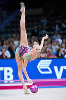 September 11, 2015 - Stuttgart, Germany - YANA KUDRYAVTSEVA of Russia performs during AA final at 2015 World Championships.