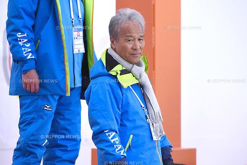 Toshimasa Furukawa (JPN), <br /> FEBRUARY 10, 2015 - Curling : <br /> 27th Winter Universiade Granada 2015 <br /> between Japan Men's and Russia Men's <br /> at Fuentenueva Pavilion, Granada, Spain. <br /> (Photo by AFLO SPORT) [1220]