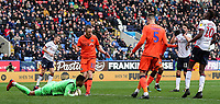 Bolton Wanderers' Will Buckley looks on as his shot is saved by Millwall's Jordan Archer <br /> <br /> Photographer Andrew Kearns/CameraSport<br /> <br /> The EFL Sky Bet Championship - Bolton Wanderers v Millwall - Saturday 9th March 2019 - University of Bolton Stadium - Bolton <br /> <br /> World Copyright © 2019 CameraSport. All rights reserved. 43 Linden Ave. Countesthorpe. Leicester. England. LE8 5PG - Tel: +44 (0) 116 277 4147 - admin@camerasport.com - www.camerasport.com