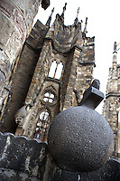 Apse exterior, neo gothic style, one of the first elements to be built by initial architect Francisco de Villar and respected by Gaudi, Nativity façade, La Sagrada Familia, Roman Catholic basilica, Barcelona, Catalonia, Spain, built by Antoni Gaudí (Reus 1852 ? Barcelona 1926) from 1883 to his death. Still incomplete. Picture by Manuel Cohen