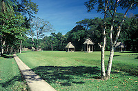 The Great Plaza at the Mayan ruins of Quirigua, Guatemala