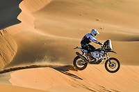 12th January 2020, Riyadh, Saudi Arabia;  59 Howes Skyler (usa), Husqvarna, Klymciw Racing, Bike,  during Stage 7 of the Dakar 2020 between Riyadh and Wadi Al-Dawasir, 741 km - SS 546 km, in Saudi Arabia - Editorial Use