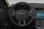 Car pictures of steering wheel view of a 2019 Land Rover Range-Rover-Evoque SE 5 Door SUV Steering Wheel