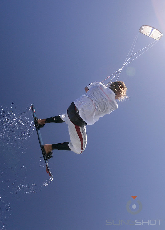 Kite surfing with Nick, Bloubergstrand, Cape Town South Africa