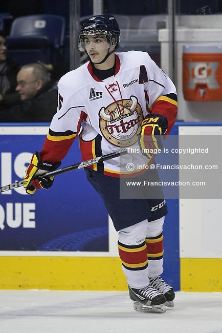 QMJHL (LHJMQ) hockey profile photo on Acadie-Bathurst Titan Adam Stevens November 21, 2012 at the Colisee Pepsi in Quebec city.