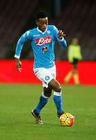 Napoli's Nathaniel Chalobah controls the ball during the  italian serie a soccer match,between SSC Napoli and Torino      at  the San  Paolo   stadium in Naples  Italy , January 07, 2016