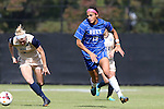 27 October 2013: Duke's Kim DeCesare (19) is chased by Pittsburgh's Caroline Keefer (9). The Duke University Blue Devils hosted the Pittsburgh University Panthers at Koskinen Stadium in Durham, NC in a 2013 NCAA Division I Women's Soccer match. Duke won the game 6-3.