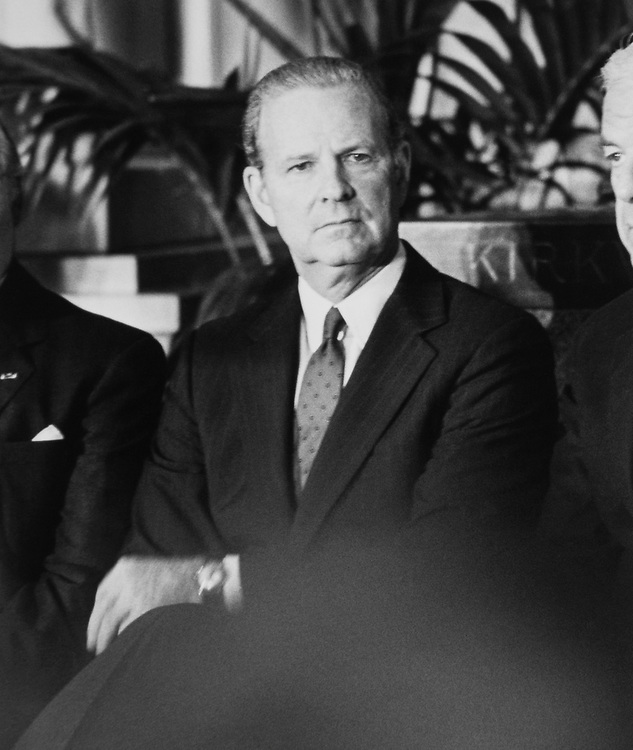 Secretary of State James Baker in May 1992. (Photo by Laura Patterson/CQ Roll Call via Getty Images)