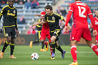Bridgview, IL. - March 19, 2016: The Chicago Fire and the Columbus Crew played to a 0-0 draw in a Major League Soccer game at Toyota Park.