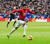 3rd February 2019, King Power Stadium, Leicester, England; EPL Premier League Football, Leicester City versus Manchester United; Jesse Lingard of Manchester United runs with the ball