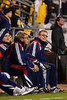 25 OCTOBER 2009:New England coaches Gwynne Williams and Head Coach  Steve Nicol during the New England Revolution at Columbus Crew MLS game in Columbus, Ohio on October 25, 2009.