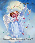 CHILDREN, KINDER, NIÑOS, paintings+++++,USLGSK0111,#K#, EVERYDAY ,Sandra Kock, victorian ,angels
