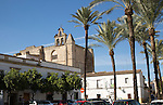 Historic church in Plaza del Mercado, Barrio de Santiago, Iglesia de San Mateo, Jerez de la Frontera, Spain