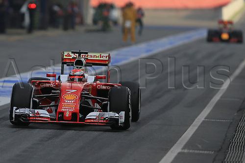 25.02.2016. Circuit de Catalunya, Barcelona, Spain. Day 4 of the Spring F1 testing and new car unvieling for 2016-17 season.  Scuderia Ferrari SF16-H – Kimi Raikkonen
