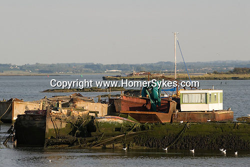 River Medway estuary Kent UK. Living alone in a caravan.
