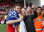 Jack O'Connell of Sheffield United withs fans during the English League One match at Bramall Lane Stadium, Sheffield. Picture date: April 30th, 2017. Pic credit should read: Jamie Tyerman/Sportimage
