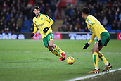 1st December 2017, Cardiff City Stadium, Cardiff, Wales; EFL Championship Football, Cardiff City versus Norwich City; Nelson Oliveira of Norwich City plays the ball wide to Josh Murphy of Norwich City